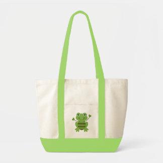 Stick Figure Frog Impulse Tote Bag