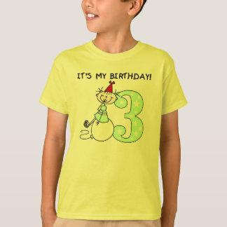 Stick Figure Girl 3rd Birthday T-Shirt
