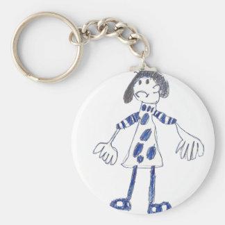 Stick Figure Girl Asks for Hug Key Chains