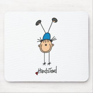 Stick Figure Girl Doing Handstands Mousepad