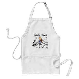 Stick Figure Girl Fiddle Player Tshirts and Gifts Standard Apron