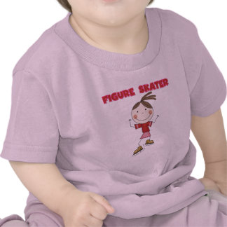 Stick Figure Girl Figure Skater Tshirts and Gifts