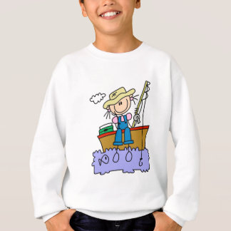 Stick Figure Girl Fishing T-shirts and Gifts