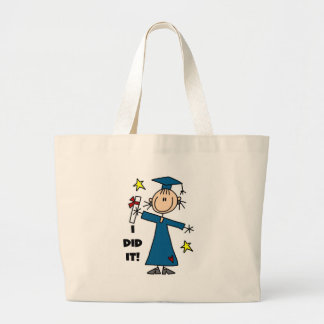 Stick Figure Girl Graduate T-shirts and Gifts Canvas Bags