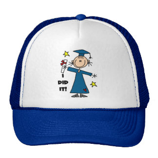 Stick Figure Girl Graduate T-shirts and Gifts Trucker Hats