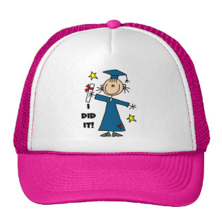 Stick Figure Girl Graduate T-shirts and Gifts Trucker Hat
