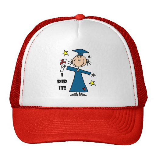 Stick Figure Girl Graduate T-shirts and Gifts Hat