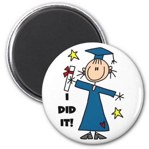 Stick Figure Girl Graduate T-shirts and Gifts Fridge Magnet