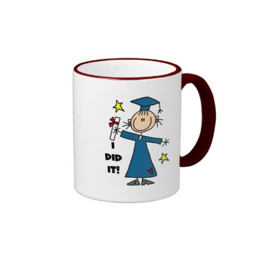 Stick Figure Girl Graduate T-shirts and Gifts Coffee Mugs