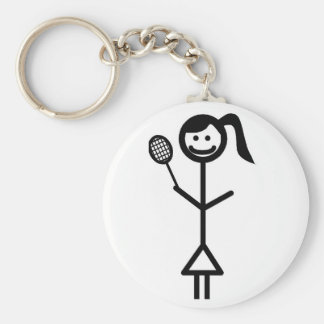 Stick Figure Girl Key Chains