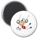 Stick figure girl on Rings Magnets