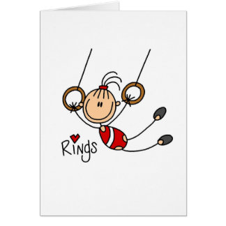 Stick figure girl on Rings Tshirts and Gifts Cards