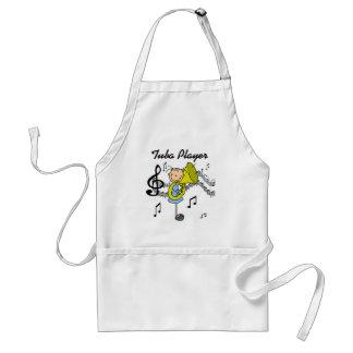 Stick Figure Girl Tuba Player T-shirts and GIfts Apron