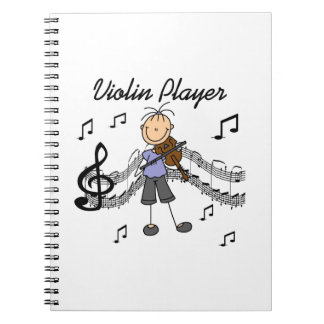 Stick Figure Girl Violin Player T-shirts and Gifts Notebooks
