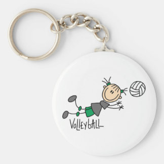 Stick Figure Girls Volleyball T-shirts and Gifts Key Chains
