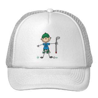 Stick Figure Golfer Hat