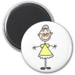 Stick Figure Grandma Magnet