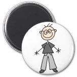 Stick Figure Grandpa Magnet