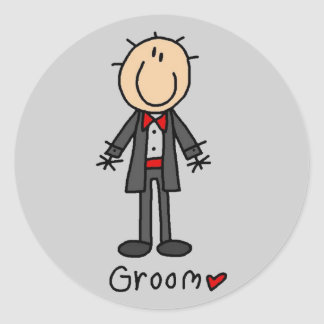 Stick Figure Groom T-shirts and Gifts Sticker