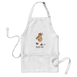 Stick Figure Health Nut Apron