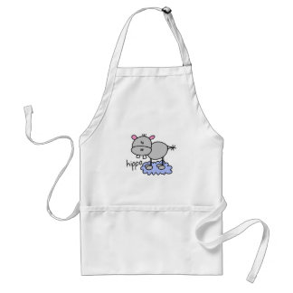 Stick Figure Hippo T-shirts and Gifts Apron
