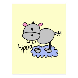 Stick Figure Hippo T-shirts and Gifts Postcard