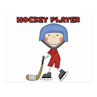 Stick Figure Hockey Player Tshirts and Gifts Postcard