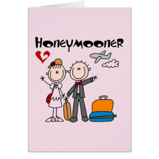 Stick Figure Honeymooner T-shirts and Gifts Card