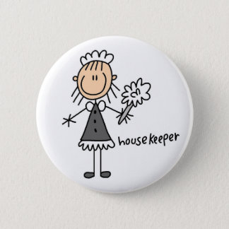 Stick Figure Housekeeper Button