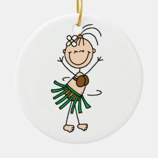 Stick Figure Hula Dance Ornament