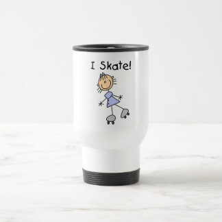 Stick Figure I Skate Tshirts and Gifts Stainless Steel Travel Mug