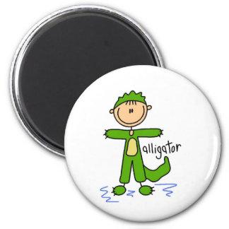 Stick Figure In Alligator Suit Magnet