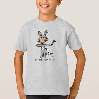 Stick Figure In Bunny Suit Shirt