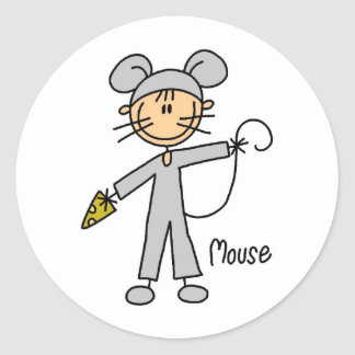 Stick Figure In Mouse Suit Sticker