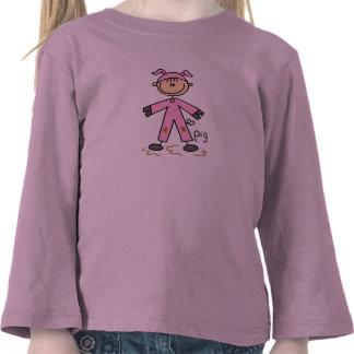 Stick Figure In Pig Suit Shirt