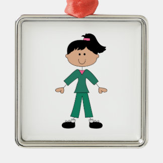 STICK FIGURE IN SCRUBS CHRISTMAS ORNAMENT