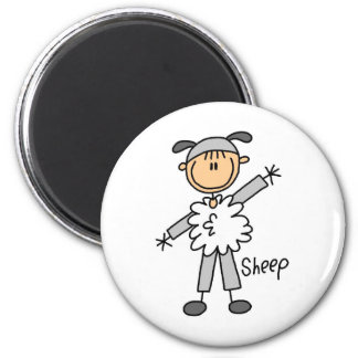 Stick Figure In Sheep Suit Magnet