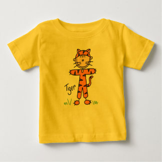 Stick Figure In Tiger Suit Shirt