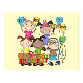 Stick Figure Kids 100 Days Smarter Post Cards