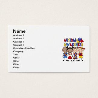 Stick Figure Kids Autism Awareness Business Card