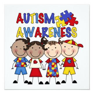 Stick Figure Kids Autism Awareness Personalized Invite