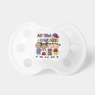 Stick Figure Kids Autism Awareness Pacifiers