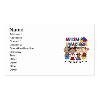 Stick Figure Kids Autism Awareness Pack Of Standard Business Cards