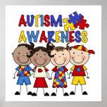 Stick Figure Kids Autism Awareness Poster