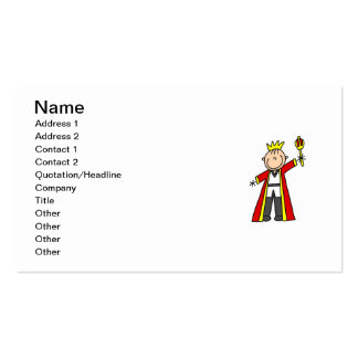 Stick Figure King Business Card Templates