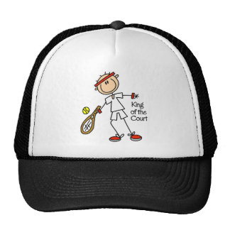 Stick Figure King Of The Court Baseball Cap Trucker Hat