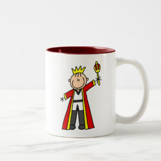 Stick Figure King Two-Tone Coffee Mug