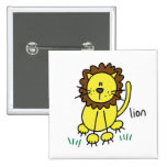 Stick Figure Lion T-shirts and Gifts Pinback Buttons