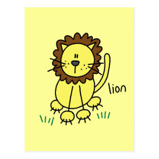 Stick Figure Lion T-shirts and Gifts Postcard