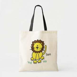 Stick Figure Lion T-shirts and Gifts Tote Bag